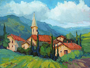 Wineries Paintings - St. Colombe Provence by Diane McClary