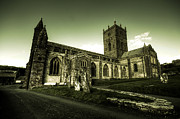 Saint David Posters - St Davids Cathedral Poster by Rob Hawkins