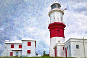 Storm Prints Digital Art Prints - St. Davids Lighthouse Print by Verena Matthew