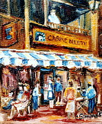 Duluth Art - St. Denis And Prince Arthur Montreal Cafe Scene by Carole Spandau