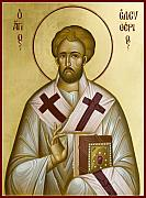 St Eleftherios Painting Prints - St Eleftherios Print by Julia Bridget Hayes