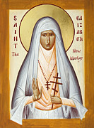 Grand Duchess Elizabeth Posters - St Elizabeth the New Martyr Poster by Julia Bridget Hayes