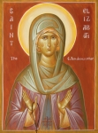 Egg Tempera Painting Prints - St Elizabeth the Wonderworker Print by Julia Bridget Hayes