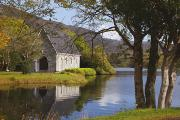 Gougane Barra Church Photos - St. Finbarres Oratory On Shore by Ken Welsh