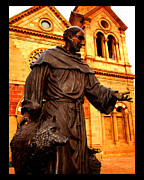 Basilica Of St Francis Posters - St. Francis and the Wolf Poster by Susanne Still