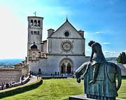 St. Francis Of Assisi Photos - St Francis Basilica   Assisi Italy by Jon Berghoff