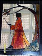 Religious Glass Art - St. Francis by Nancy  Caccioppo