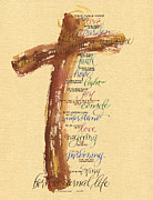 Prayer Prints - St Francis Peace Prayer  Print by Judy Dodds