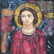Devotional Paintings - St. Gabriel by Rain Ririn
