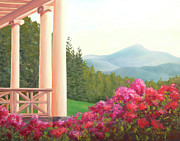 Historic Site Paintings - St. Gaudens Porch View by Elaine Farmer