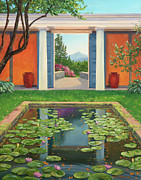 Historic Site Paintings - St Gaudens Water Lily Pond by Elaine Farmer
