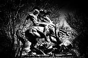 Fairmount Park Prints - St. George and the Dragon Print by Bill Cannon