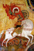 Byzantine Painting Posters - St George I Poster by Tanya Ilyakhova