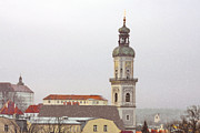 Bell Tower Framed Prints - St. George in Snow - Freising Bavaria Germany Framed Print by Christine Till
