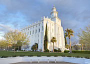 Lds Art - St George LDS Temple by Jim Speth