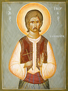 Julia Bridget Hayes Painting Metal Prints - St George the New Martyr of Chios Metal Print by Julia Bridget Hayes