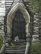 Montreal Paintings - St Georges Parishioners by Reb Frost