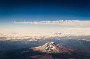 On-the-look-out Prints - St. Helens and Mt. Adams Print by Darcy Michaelchuk