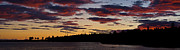 Sunset Pyrography Metal Prints - St. Ignace Sunset Metal Print by Larry Carr