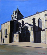 Baptist Painting Originals - St Jean-Baptiste in Mezin by Ray Johnstone