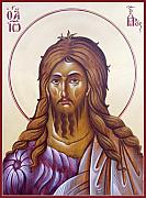 Byzantine Icon Posters - St John the Forerunner and Baptist Poster by Julia Bridget Hayes