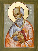 St John The Evangelist Posters - St John the Theologian Poster by Julia Bridget Hayes