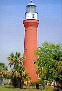 Lighthouse Photographs By Frederic Kohli - St Johns River Lighthouse by Frederic Kohli