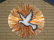 Christian Sculpture Prints - St. Josephs Dove Print by Rick Roth