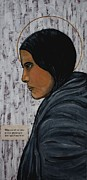 Catholic Art Painting Originals - St. Kateri Tekakwitha by Ralph LeCompte