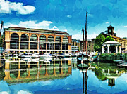 Catherine Digital Art Framed Prints - St Katharine Docks Framed Print by Steve Taylor