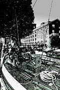 Ropes Digital Art Prints - St Katherines Dock London Print by David Pyatt