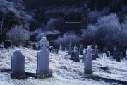 Frost Photos - St. Kevins Church, Glendalough, County by Richard Cummins