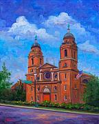 Church Prints Paintings - St. Lawrence Basilica - Asheville by Jeff Pittman