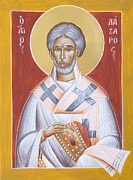Orthodox Paintings - St Lazarus by Julia Bridget Hayes