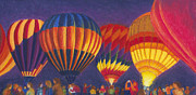 Flight Pastels Posters - St Louis balloon Glow Poster by Garry McMichael