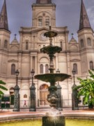 St. Louis Cathedral Framed Prints - St Louis Cathedral Framed Print by David Bearden