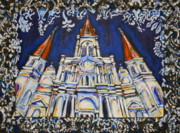 Saint Louis Mixed Media - St. Louis Cathedral Tapestry by Tami Curtis Ellis