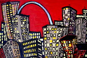 Karl Haglund Metal Prints - St Louis City of Life Metal Print by Karl Haglund