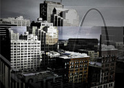 Merged Photo Prints - St. Louis in Layer Print by Deborah Shultis