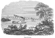 American City Prints - St. Louis, Missouri, 1847 Print by Granger