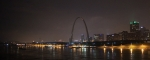 Riverfront Prints - St. Louis Nighttime Panoramic Print by Chuck Wedemeier