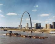 St. Louis: Waterfront Print by Granger