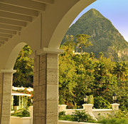 Cindy Longhini Prints - St. Lucia Mountain View Print by Cindy Lee Longhini