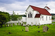 Tombstones Posters - St. Lukes Church in Placentia Newfoundland Poster by Elena Elisseeva