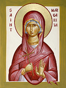 St Margaret Painting Posters - St Margarita Poster by Julia Bridget Hayes