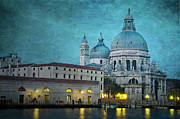 Church Architecture Posters - St Maria della Salute from St Marks  Poster by Marion Galt