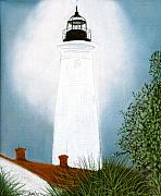 Coastal Pastels - St. Marks Lighthouse by Jan Amiss