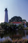 St. Marks Prints - St Marks Lighthouse Print by Skip Willits