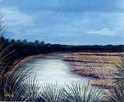 Lakes Pastels - St. Marks River by Jan Amiss