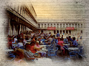 Towns Digital Art - St Marks Square Piazza S. Marco by Monica Ghit